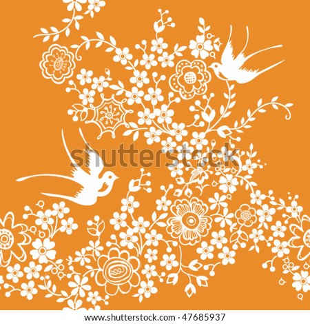 Abstract Floral SEAMLESS Pattern 9 - stock vector