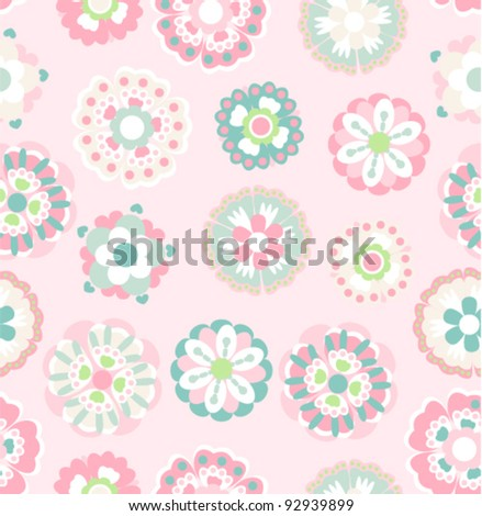 abstract floral seamless pattern on brown background
