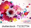 Abstract floral spring background. - stock