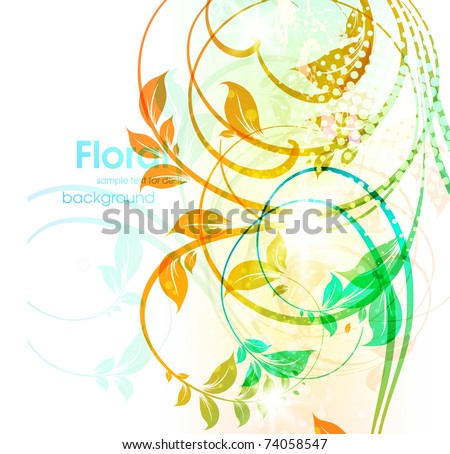 Abstract floral spring background. eps 10.