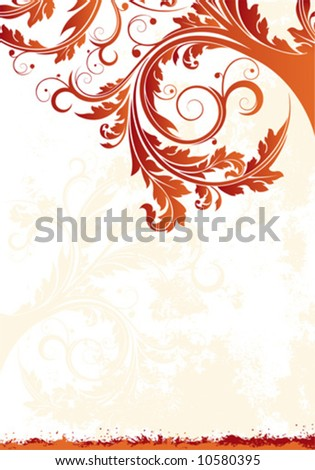 Abstract Floral Vector Background, decorative background