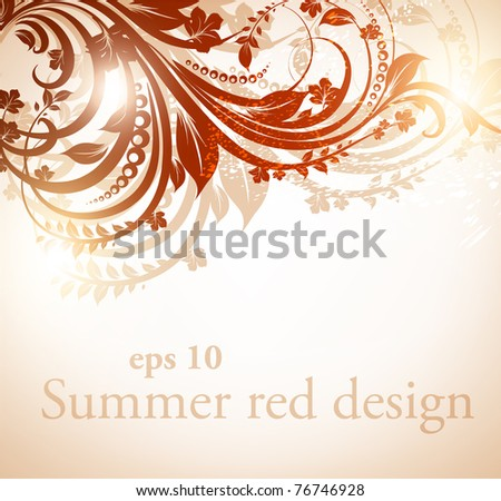 Abstract floral vector frame for design. Eps 10.