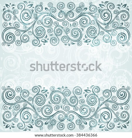 Abstract floral vintage background illustration - stock vector