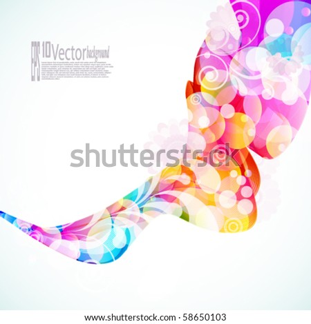 Abstract Floral Wave - stock vector
