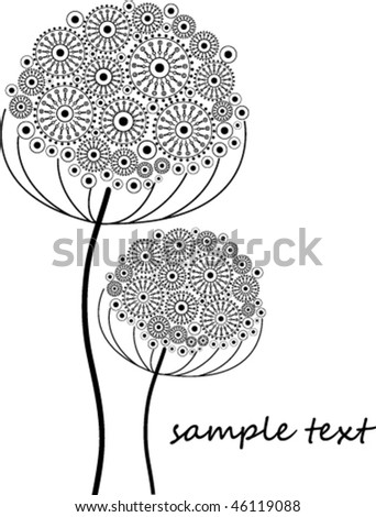 Abstract flower - stock vector