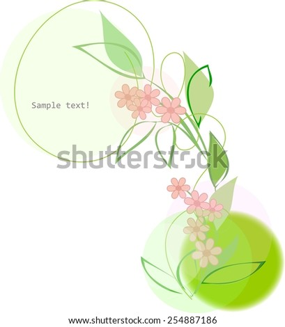 Abstract  flower background. Retro card. - stock vector