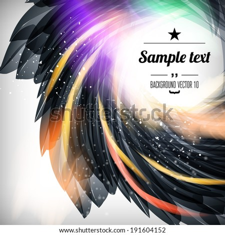 Abstract flower background with sparks and flashes. Vector Illustration, Graphic Design Editable For Your Design. - stock vector
