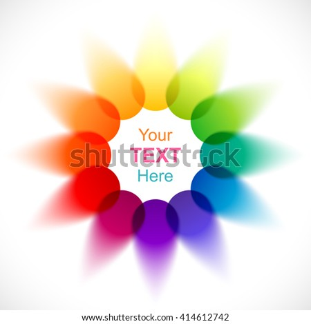 Abstract Flower Color Wheel