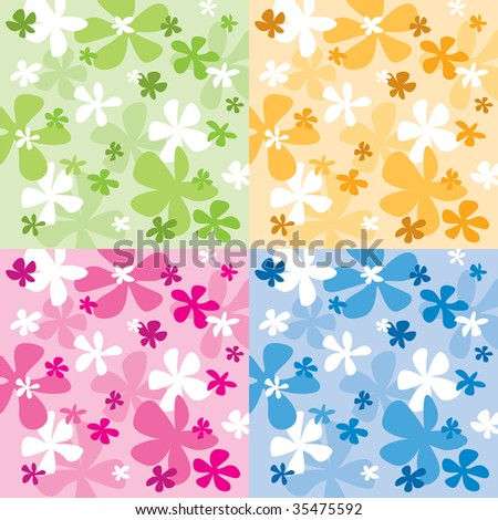 Abstract flower design - stock vector