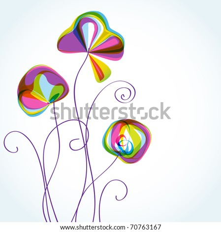 Abstract flower pattern - stock vector