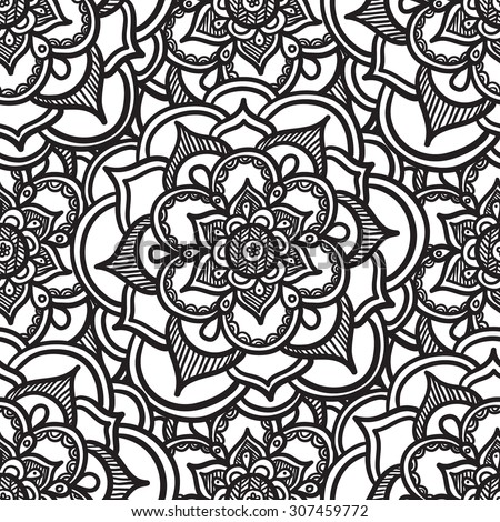 Abstract Flower Seamless Pattern - stock vector