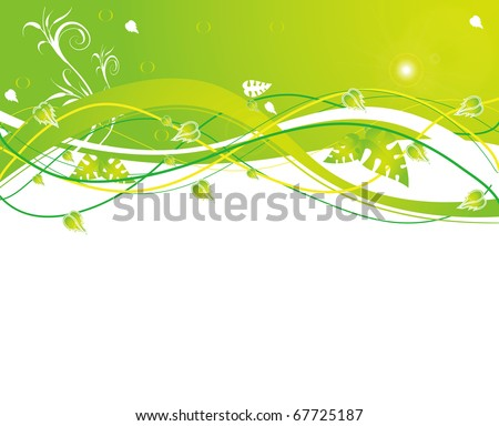 abstract flower spring illustration vector - stock vector
