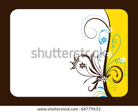 abstract flower spring illustration vector frame card - stock vector