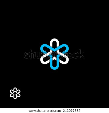 Abstract flower symbol - stock vector