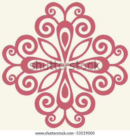 abstract flower, vector design elements