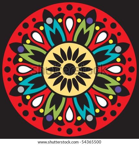 abstract flower, vector illustration - stock vector