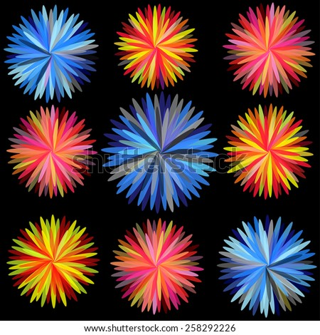 Abstract flowers Colorful illustrated a abstraction the colorful background - stock vector