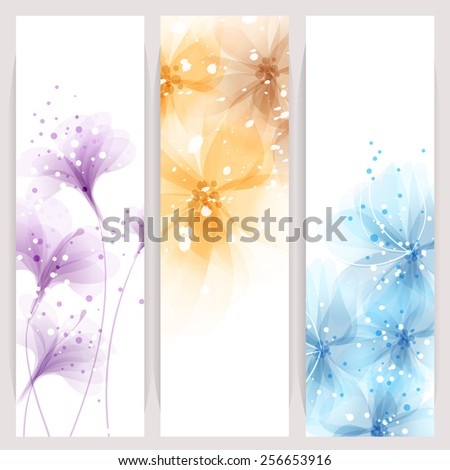 Abstract flowers vector background / Brochure Template / banner. eps 10  - stock vector