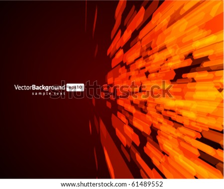 Abstract fly hexagon shapes vector background. Eps 10 - stock vector
