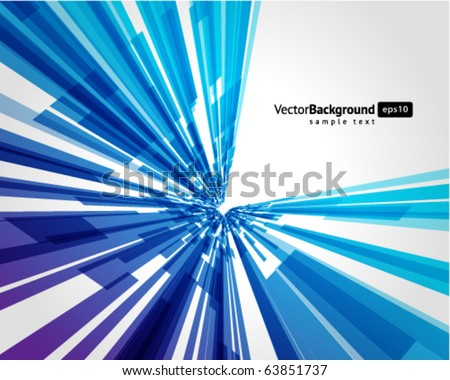 Abstract fly technology lines vector background - stock vector