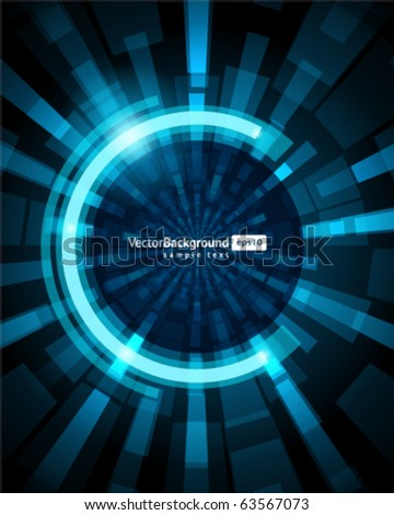 Abstract fly technology lines vector background. Eps 10 - stock vector