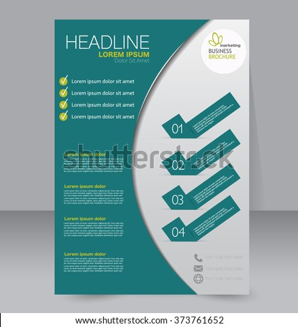 Abstract flyer design background. Brochure template. Can be used for magazine cover, business mockup, education, presentation, report. Green color - stock vector