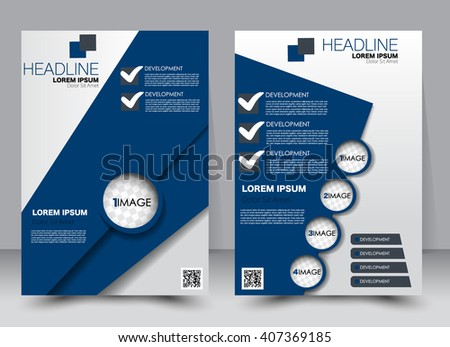 Abstract Flyer Design Background Brochure Template Stock Vector - Editable brochure templates