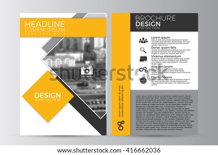 Abstract flyer design background. Brochure template. Can be used for magazine cover, business mockup, education, presentation, report. a4 size with editable elements. EPS 10. - stock vector
