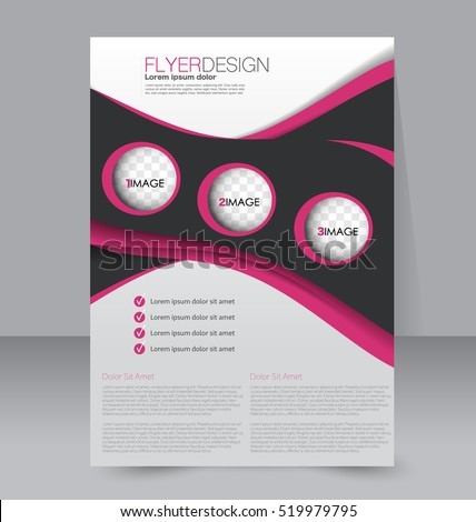 abstract flyer design background brochure template for magazine cover business mockup education