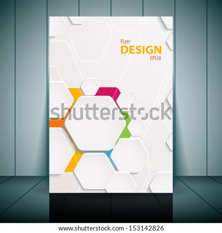 Abstract flyer vector template. Vector illustration for your business presentation - stock vector