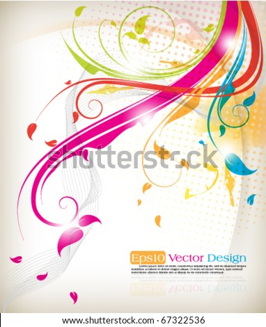 Abstract foliage background. Eps10 vector.