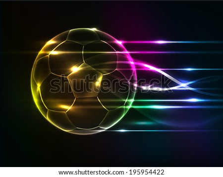 Abstract football background - stock vector