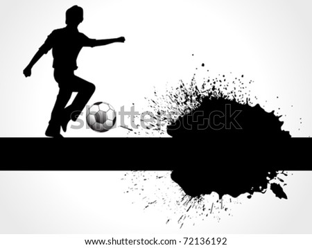abstract football boy with grunge vector illustration - stock vector