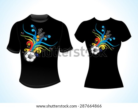 abstract football tshirt template vector illustration - stock vector
