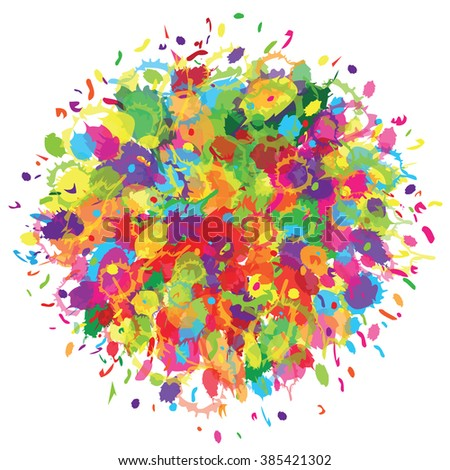 Abstract for Happy Holi colorful background. Vector illustration.
