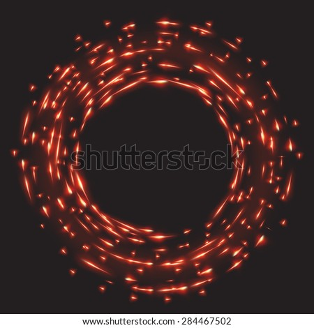 Abstract fractal red background with crossing lines. EPS 10 vector file included