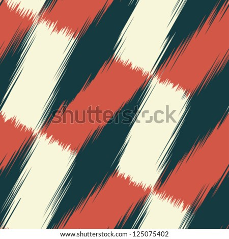 Abstract fragmentary edges geometric print. Seamless pattern. Vector. - stock vector