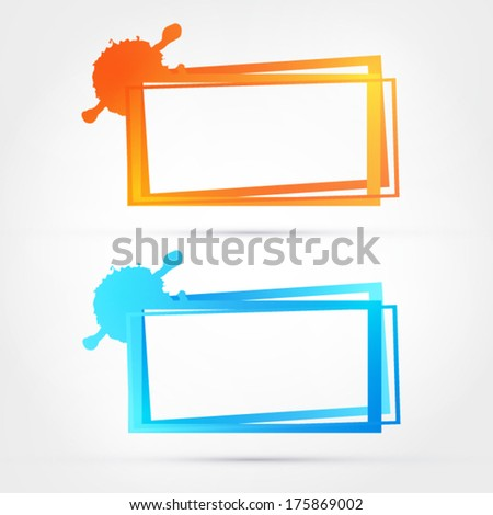 Abstract frame banner - stock vector