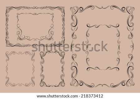 Abstract frame. Design elements. Vector illustration - stock vector