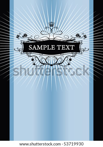 abstract frame for text - stock vector