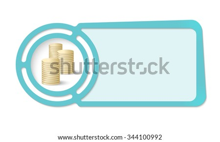 Abstract frame for your text and coins - stock vector