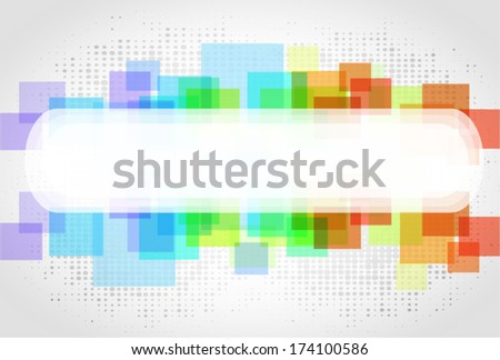 Abstract frame with colored rectangles for different uses - stock vector