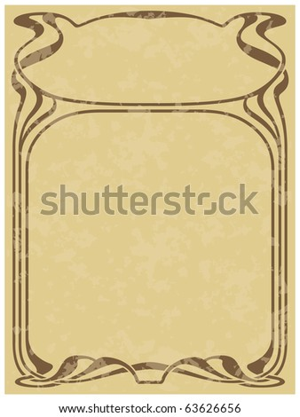 Abstract framework from the bound lines in style art-nouveau (grunge removed) - stock vector