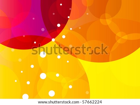 Abstract fresh summer background (eps10) - stock vector