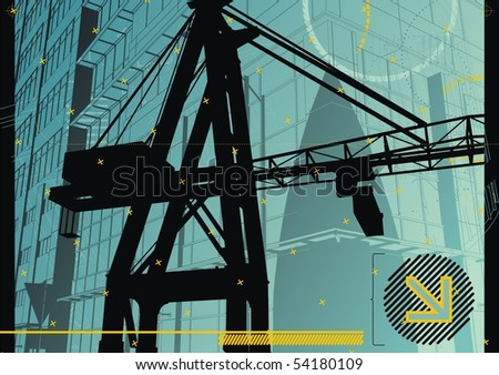 Abstract, funky design for the construction industry. - stock vector