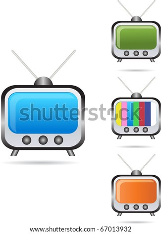 abstract funky tv set - stock vector
