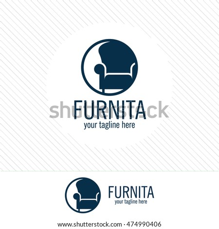 classy chair logo design. Abstract furniture logo design concept  Symbol and icon of chairs sofas tables Furniture Logo Stock Images Royalty Free Vectors