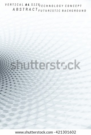 Abstract future concept shiny and glossy background with black and white half tone effect. Ideal for technology concept futuristic brochure & flyer cover works or background designs. - stock vector