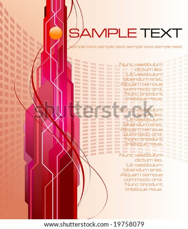 abstract futuristic background - vector illustration - stock vector