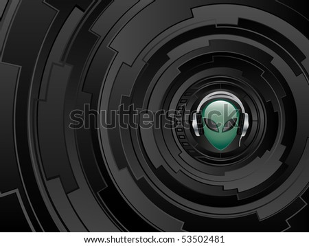 Abstract futuristic background. Vector illustration. - stock vector